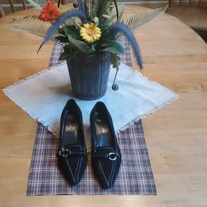 Chadwicks Black Suede sz 6.5 Dress Shoes